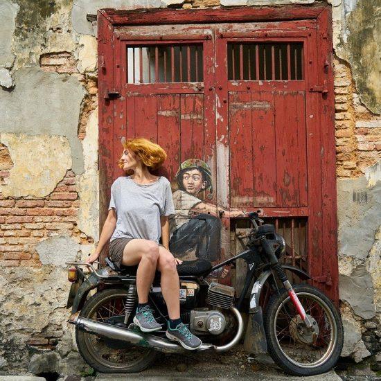 Motorcycles Woman Graffiti Art Artist Paint